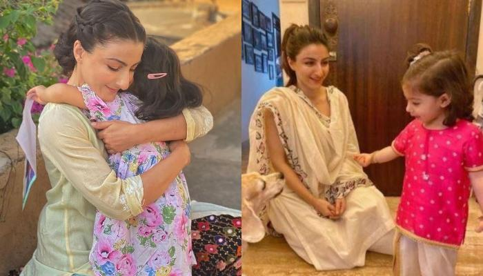 Inaaya Naumi Kemmu Jumps Into Mommy, Soha Ali Khan's Arms, As The 'Non Static' Moment Is Captured