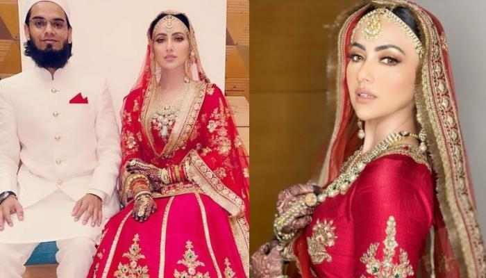 Sana Khan Changes Her Name To Sayied Sana Khan, Shares Gorgeous Pictures Of Her Walima Look