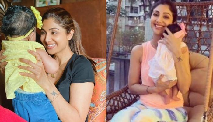 Shilpa Shetty Kundra Spotted With Her Baby Girl, Shutterbugs Capture First Clear Picture Of Samisha