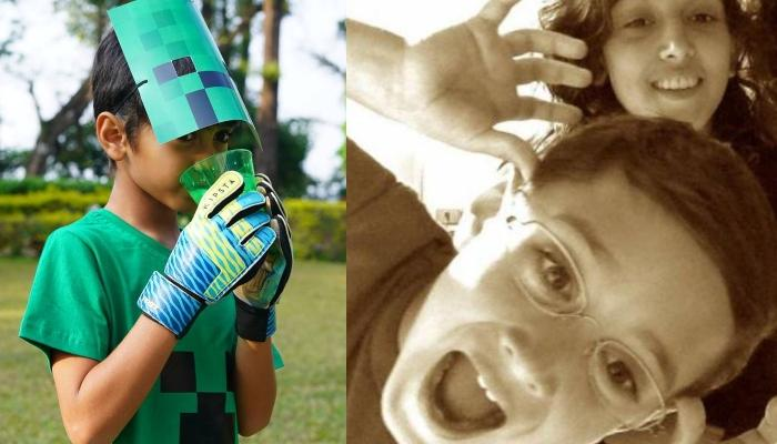Ira Khan Wishes 'Coolest Baby Brother' Azad Rao Khan On 9th Birthday With Minecraft-Themed Bash Pics
