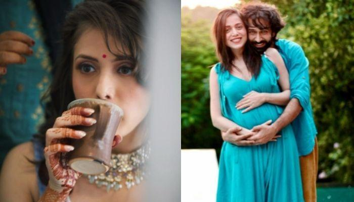 'Ishqbaaaz' Fame, Nakuul Mehta's Wife, Jankee Opts For An Ice-Blue Suit For Her 'Godh Bharai Rasam'