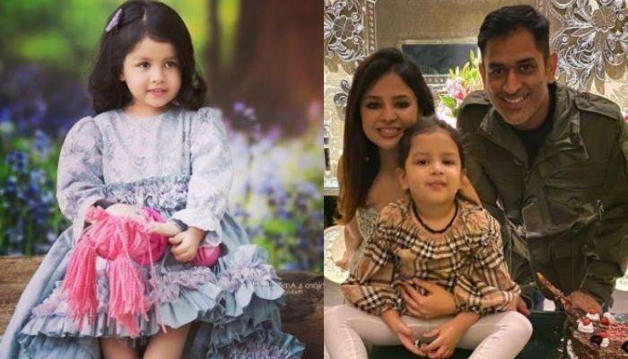 Ziva Dhoni Looked Grumpy As She Stepped Out With 'Papa', MS Dhoni And Mom, Sakshi Dhoni In Dubai