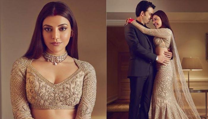 Kajal Aggarwal's Unseen Reception Photos With Hubby, Gautam Kitchlu, Her Cookie-Studded Cake Is Goal