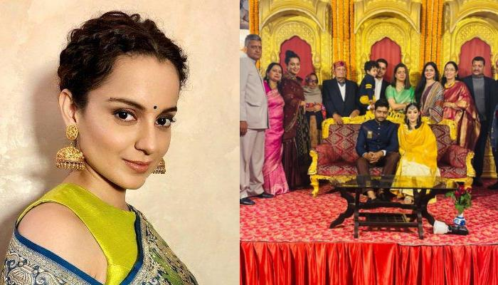 Kangana Ranaut Attends Her Cousin's Engagement In Himachal, Look Surreal In Ethnic Attire
