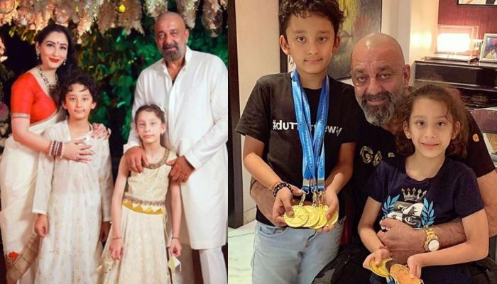 Sanjay Dutta Shares An Adorable 'Full-Split' Picture Of Son, Shahraan, Calls Him Little Karate Kid