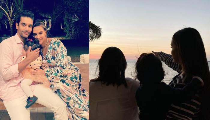 Neha Dhupia Shares A Boomerang Of Her Baby, Mehr Dhupia Bedi's Feet From Her First Beach Visit