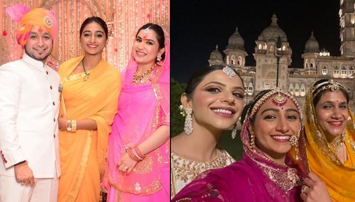 Mohena Kumari Singh Exudes Every Bit Of Royalty In Fuchsia Pink Rajputana Poshak At A Family Wedding