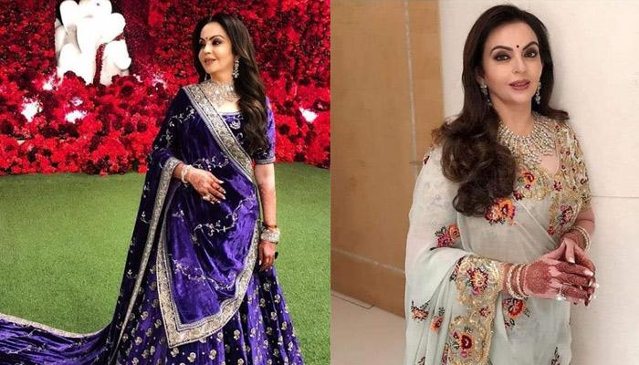 Nita Ambani's Rust-Coloured Silk Suit With Zari Embroidery Is A Stellar For Wedding Season