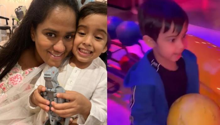 Arpita Khan Sharma Shares A Glimpse Of Her Baby Boy, Ahil Sharma's Bowling Skills, He Looks Adorable