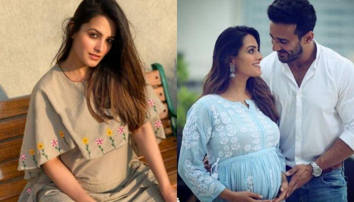 Anita Hassanandani Flaunts Her Baby Bump In A White Jumpsuit, Steps Out With Hubby, Rohit Reddy