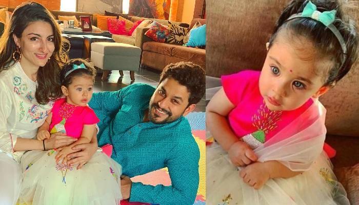 सोहा अली खान और कुणाल खेमू की बेटी इनाया बिंदी लुक में आई नजर, लिखा-'घर की लक्ष्मी इनाया'