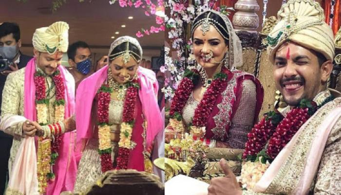 Aditya Narayan And Shweta Agarwal Host A Star-Studded Reception, The Latter Glows In A Red Gown