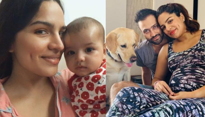 Shikha Singh Appreciates Hubby, Karan And Their Pooch, Goku For Tolerating Her 'Mommy Mood Swings'