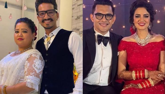 Bharti Singh And Haarsh Limbachiyaa Get Trolled As They Attend Aditya-Shweta's Reception Post-Bail