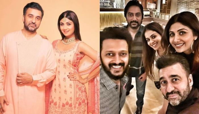 Shilpa Shetty Twins In Black With Hubby Raj Kundra For Dinner Date, Riteish-Genelia Deshmukh Join In