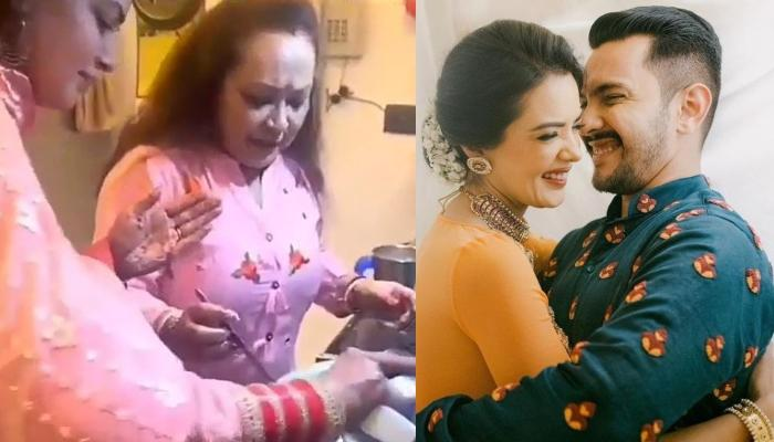 Aditya Narayan Pulls His Wife Shweta Agarwal's Leg As She Makes Her 'First Rasoi' In Sasural [VIDEO]