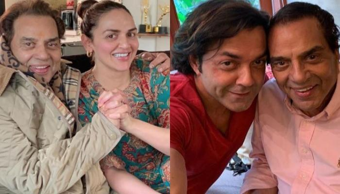 Esha Deol And Bobby Deol Wish Their Papa, Dharmendra On His 85th Birthday, Share Twinning Pictures