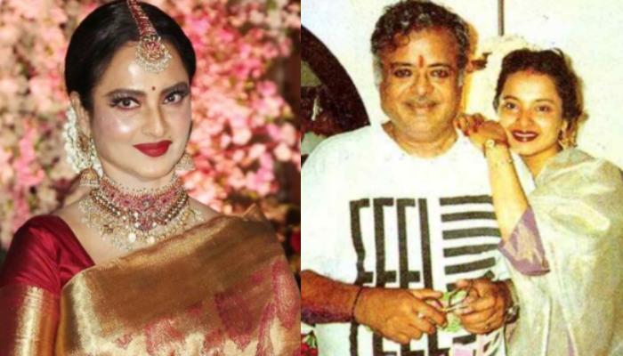 Unseen Monochrome Picture Of Rekha With Her Late Father, Gemini Ganesan, She Looks Unrecognisable