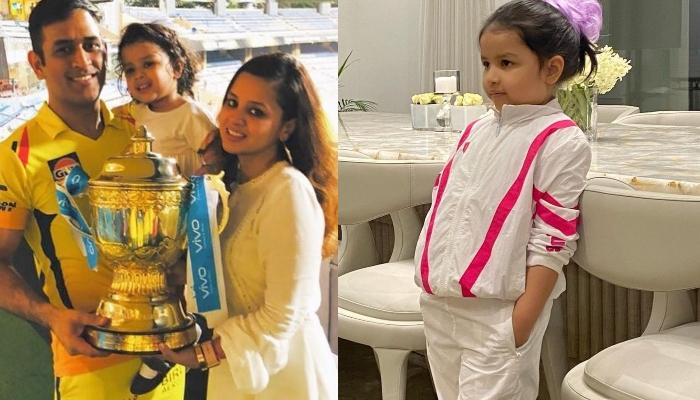 Ziva Singh Dhoni Turns Captain As She Takes A Ride On A Water Motorbike
