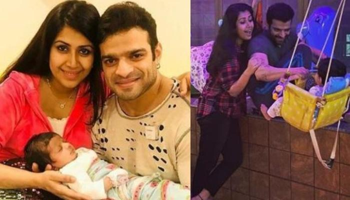 Karan Patel And Ankita Bhargava Twin In White For Daughter, Mehr Patel's First Birthday Celebrations