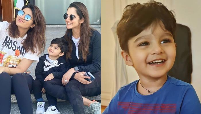 Sania Mirza's Son, Izhaan Mirza Malik Looks Adorable As He Poses With 'Khaala', Anam Mirza