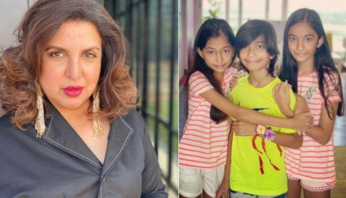 Farah Khan And Her Daughter, Diva Protects Each Other, Her Son, Czar Captures The Beautiful Moment