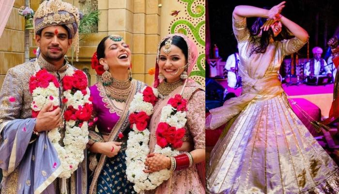 Kangana Ranaut's Candid Dancing Photographs From Her Brother's Mehendi Ceremony Exudes Her Happiness