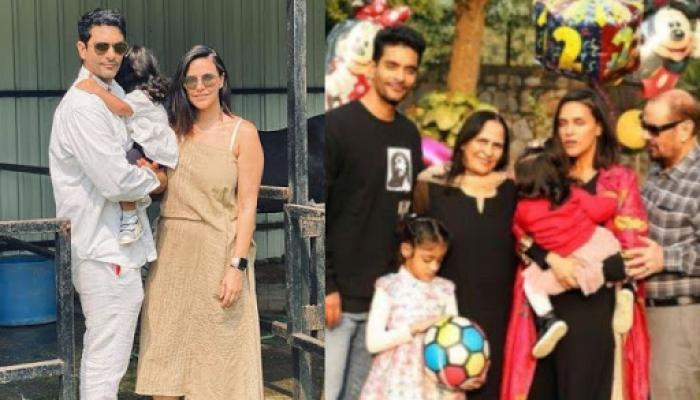 Neha Dhupia Shares Unseen Clicks Of Her Daughter Mehr Dhupia Playing With Her 'Nanu' On His Birthday
