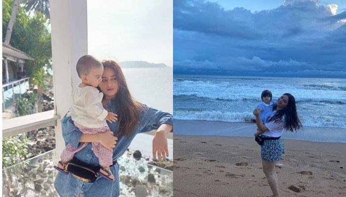 Mahhi Vij Shares Cute Pictures Of Tara Playing At Beach In A Superman T-Shirt With Sister, Khushi
