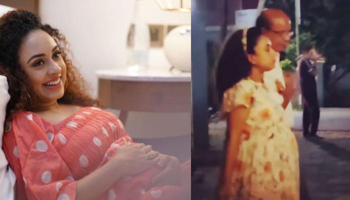 'Ludo' Actress, Pearle Maaney Enjoys Night Walk With Her Dad, Mom-To-Be's Hubby Captures The Moment