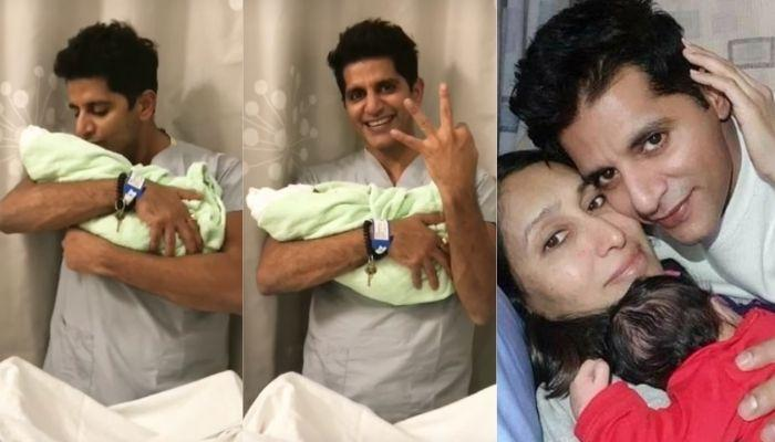 Karanvir Bohra Shares The Video Of Holding His Newborn Daughter For The First Time In Hospital