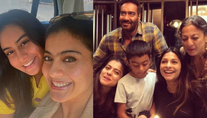 Kajol's Season Greetings Include Pictures Of Ajay, Nysa, Yug, Tanishaa And Her Mother, Tanuja