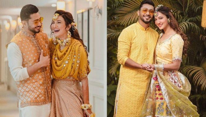 Gauahar Khan And Zaid Darbar Look Heavenly In The First Pictures From Their White-Themed 'Nikaah'