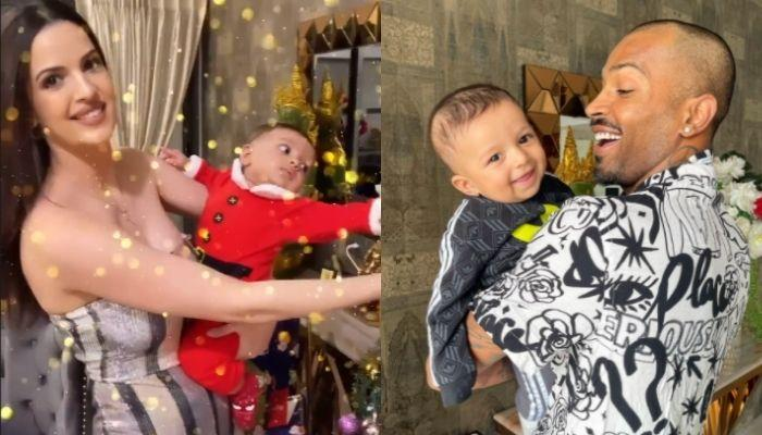 Hardik Pandya Turns Santa Claus For His Son, Agastya's First Christmas Celebration [Pictures Inside]