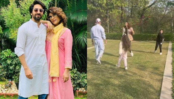 Ayushmann Khurrana And Tahira Kashyap Enjoy A Fun Outing With Kids, Play Cricket And Other Games