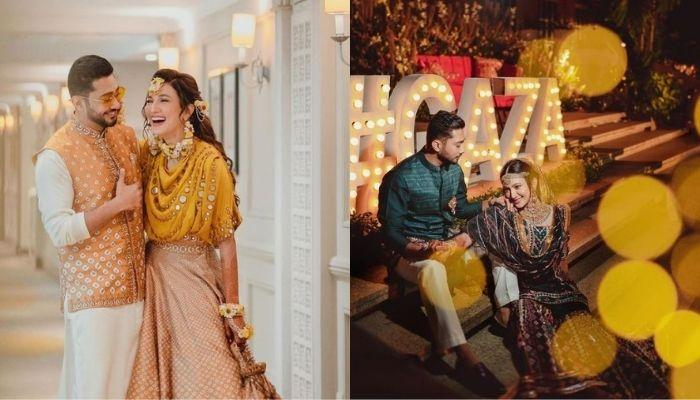 When Gauahar Khan Lifted Her 'Shauhar', Zaid Darbar On Their 'Walima', Glowed In An Ivory 'Lehenga'