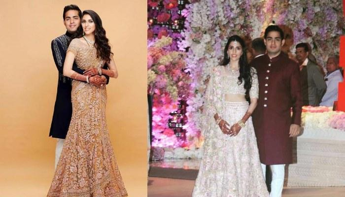 Unseen Picture Of Shloka Mehta And Akash Ambani In Sabyasachi Outfits From Pre-Wedding Function