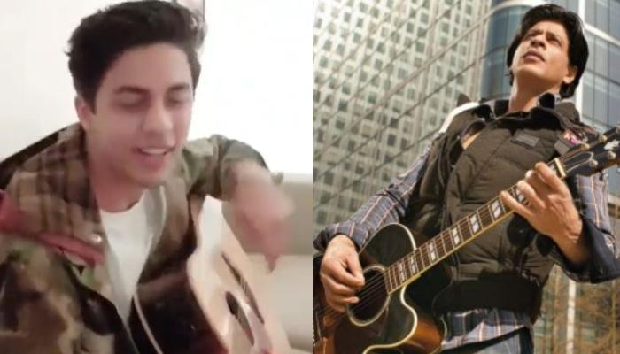 Aryan Khan Playing Guitar Demands All Your 'Attention' As He'll Remind You Of Challa, Shah Rukh Khan
