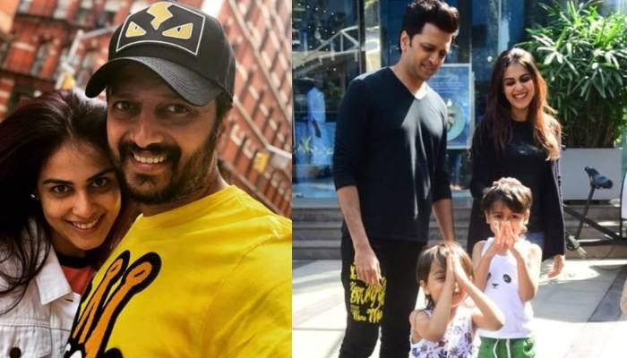 Genelia And Riteish Deshmukh's Sons, Rahyl And Riaan Greet Paparazzi With 'Namaste', Wins Our Hearts