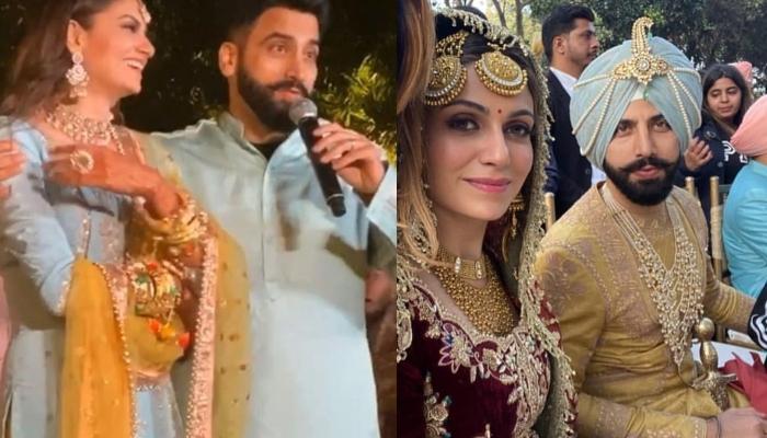 Guricck Maan Gets Married To Simran Kaur Mundi, The Bride's Punjabi Dupatta Is Setting A New Trend