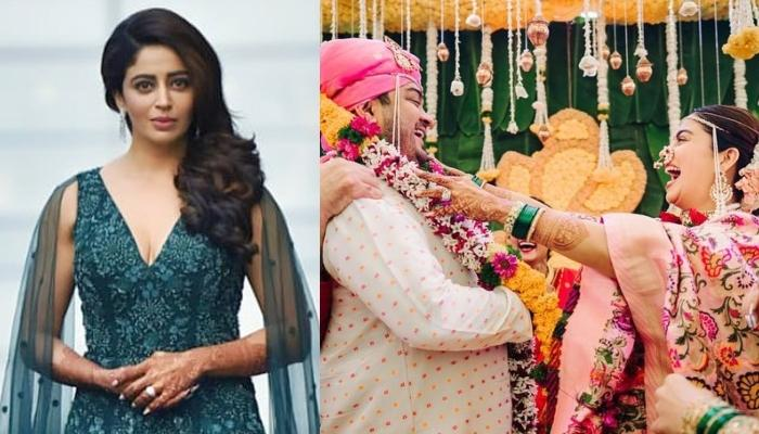 Nehha Pendse Shares Unseen Wedding Pictures With Shardul Singh Bayas, Radiates Bridal Glow