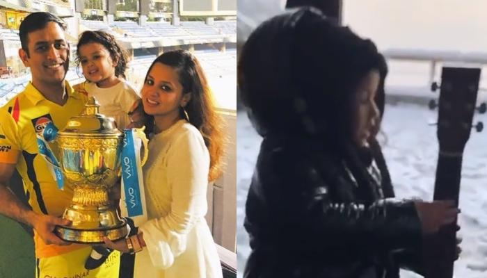 MS Dhoni's Daughter, Ziva Singh Dhoni Gives A Cute Performance, Plays A Guitar Like A Pro