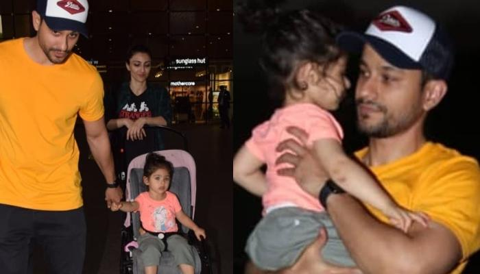 Inaaya Naumi Kemmu Refuses To Let Go Her Daddy, Kunal Kemmu's Hand At The Airport