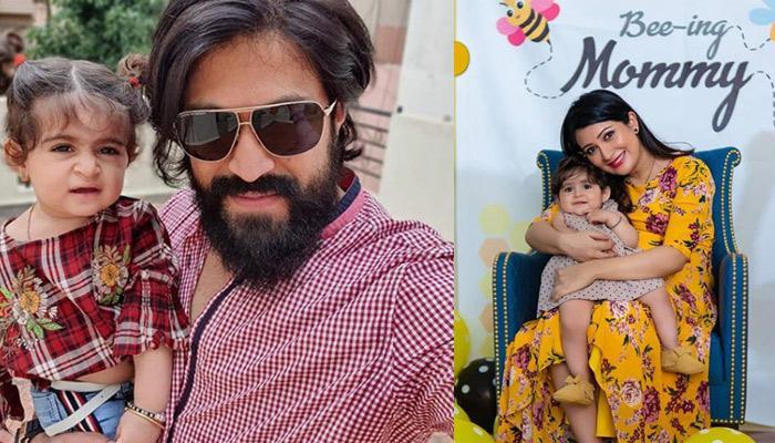 K.G.F. Star, Yash's Wife, Radhika Pandit And Daughter, Ayra Bake A Cake For Him On His Birthday