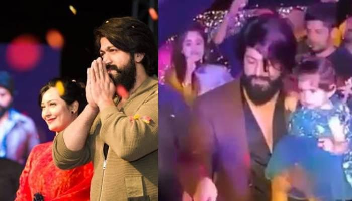 K.G.F Star, Yash Celebrates His Birthday As He Cuts A Cake Of 5,700 Kgs With Ayra And Radhika