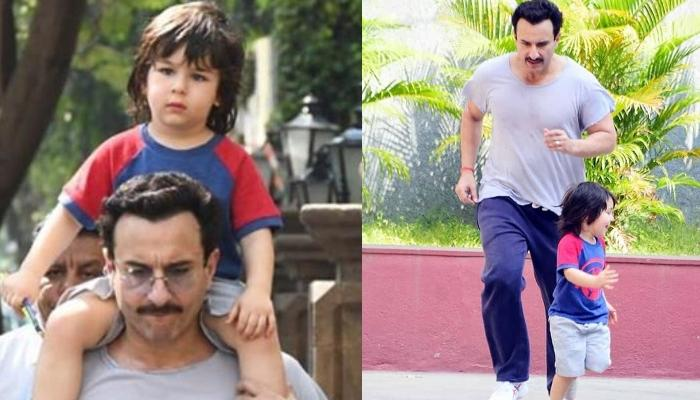 Taimur Ali Khan Gives A Good Run To Daddy, Saif Ali Khan On A Sunday Morning, Pictures Inside