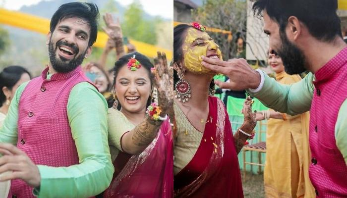 'Manmohini' Actor, Ankit Siwach Enjoys His Haldi Ceremony With Bride-To-Be Nupur Bhatia