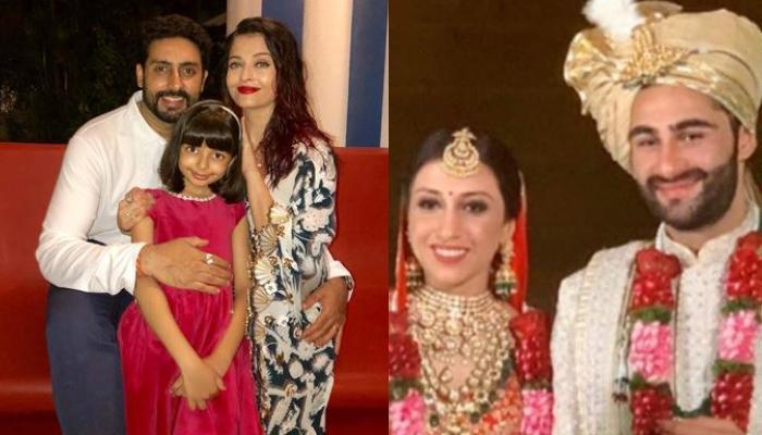 Aishwarya Rai Bachchan, Abhishek Bachchan, And Aaradhya Grace Armaan Jain's Wedding In Style