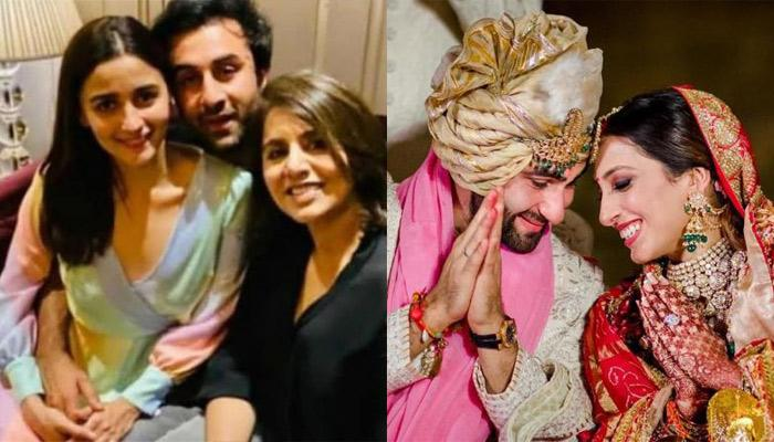 Ranbir Kapoor And Alia Bhatt Made A Grand Entry With Neetu Kapoor At Armaan And Anissa's Reception
