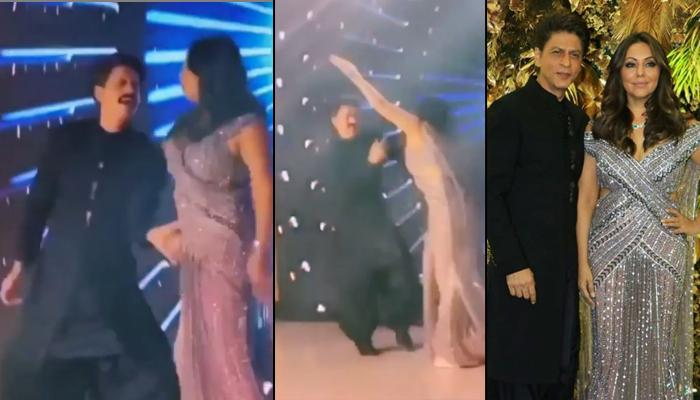 Gauri Khan Overshadows Shah Rukh Khan As They Groove On Saadi Gali At Armaan And Anissa's Reception